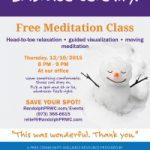 Free Meditation Class 12/10/15 Randolph, NJ